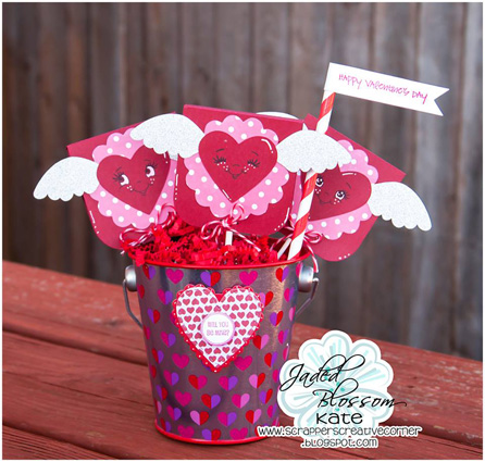 Heart (winged) Lollipop Covers