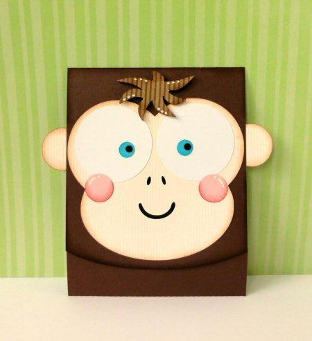 Monkey Flip Card
