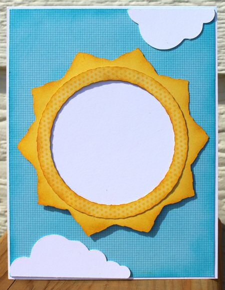 Sun and Cloud Shaker Card