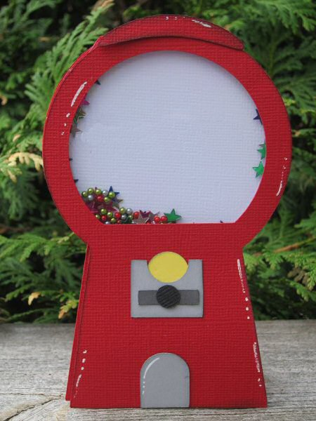 Gumball Machine Shaker Card