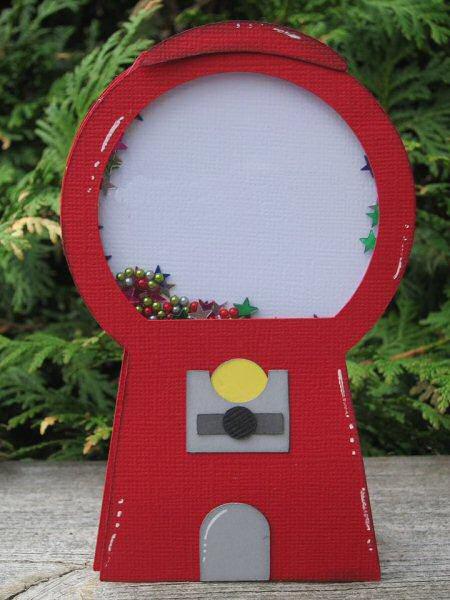 Gumball Machine Shaker Card