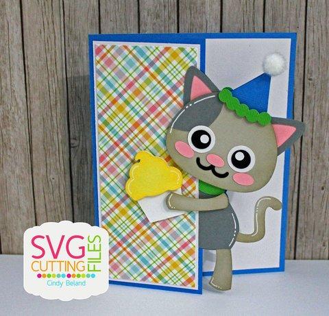 Peeker Kitty Card