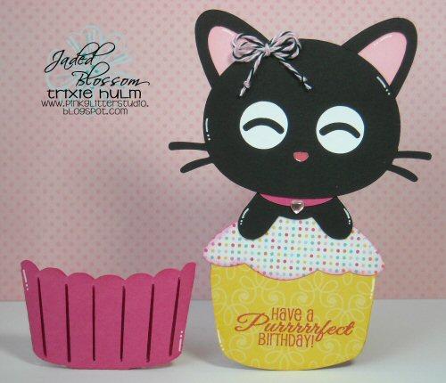 Cupcake Kitty Slide Card