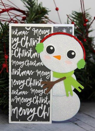 Peeker Snowman Card