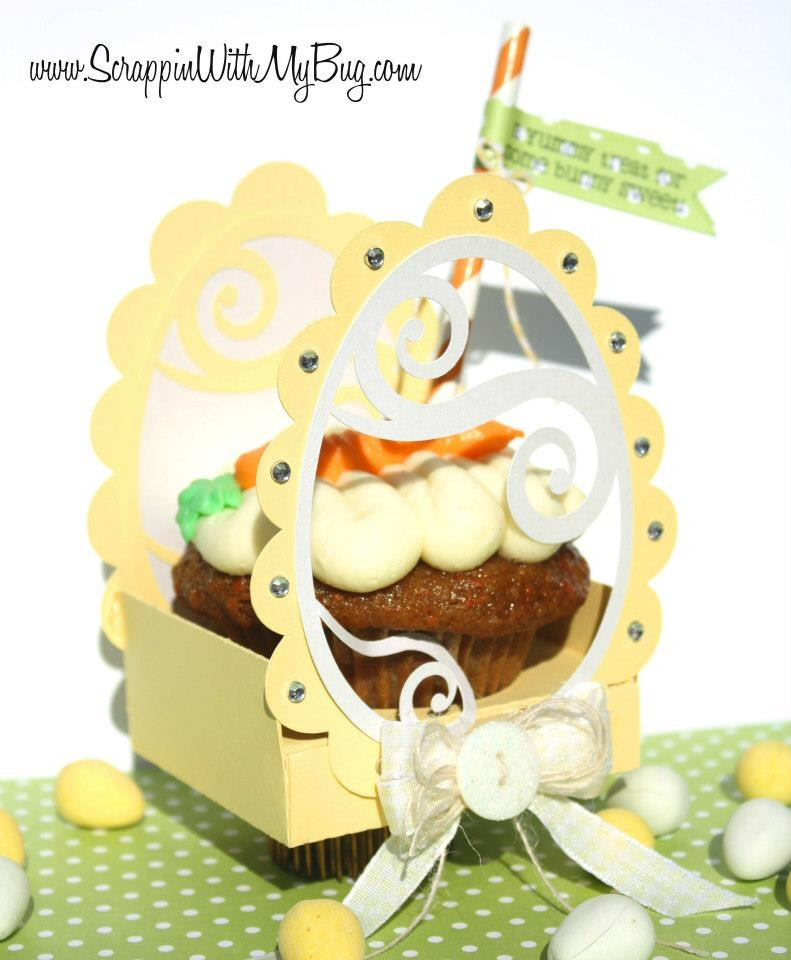 Swirl Egg Cupcake Box Holder