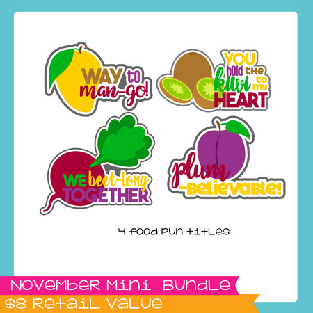 November Mini Bundle - Veggie Fruit Puns