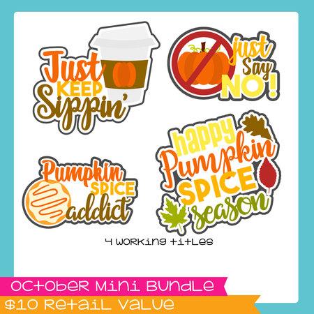 October Pumpkin Spice Mini Bundle