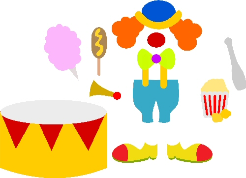 Paper Dolls CLOWNS Add On