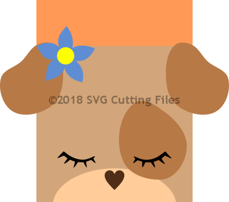 Animal Face Card Puppy