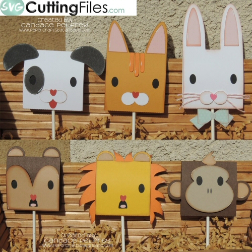 Animal Head Lollipop Covers