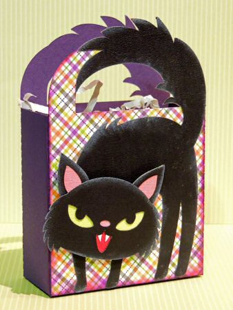 Arched Cat Handled Bag