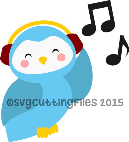 Baby Owl with Headphones