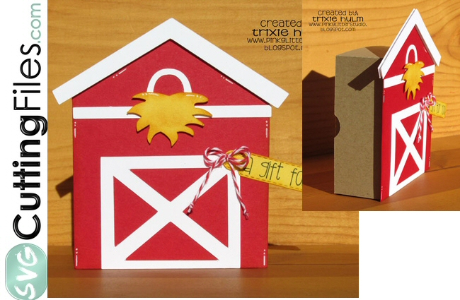 Barn Note Card Box (notecards NOT included)