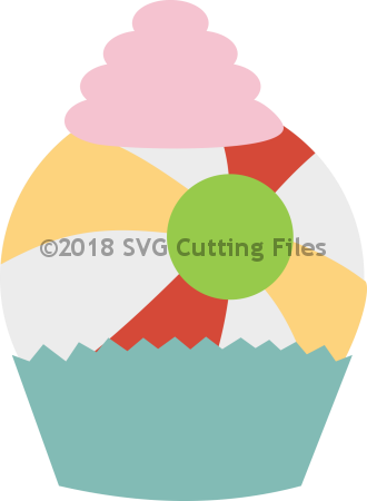 BeachBall Cupcake