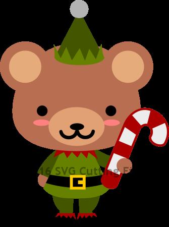 Bear Candy Cane