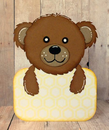 Bear Shaped Card