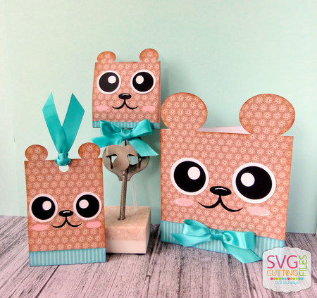 Bear Card - Hang Tag and Lollipop Set