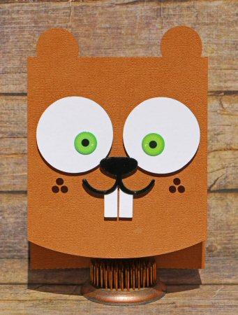 Beaver Flip Card