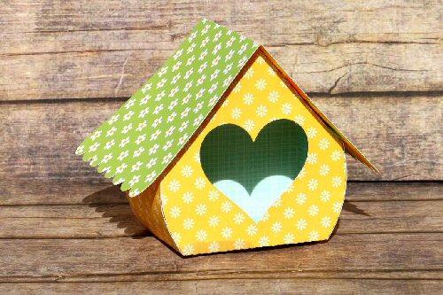 Birdhouse Heart Box