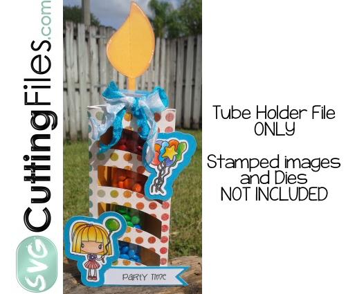 Birthday Candle Tube Holder