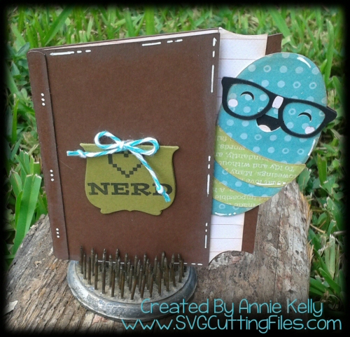 Book Worm Shaped Card