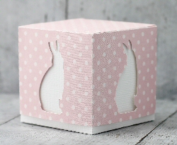 Bunny Cut Out Cube Box