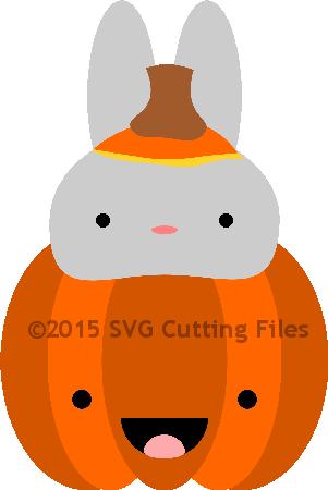 Bunny Pumpkin Peeker
