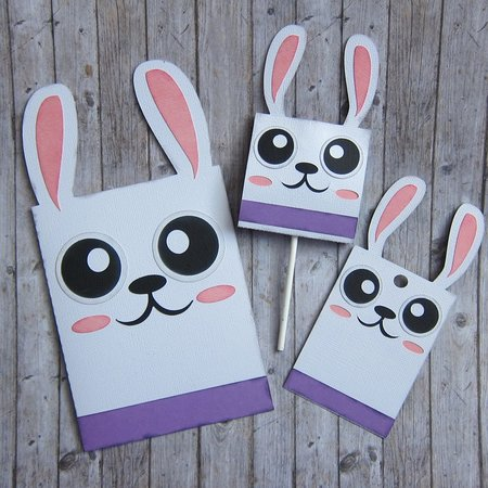 Bunny Card - Hang Tag and Lollipop Set