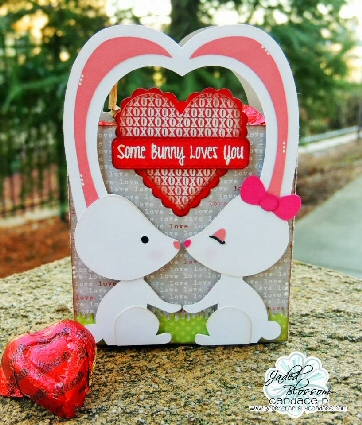 Bunny Couple Ear Heart Bag