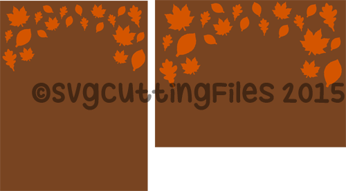 Card Front Overlay - Leaves
