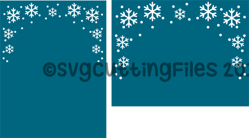Card Front Overlay - Snowflakes