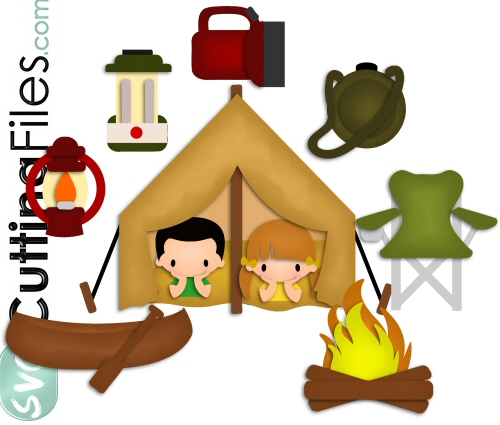 Camping Fun SVG Cutting File