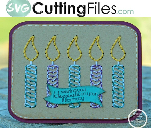 Candle Stitch Up Card kit