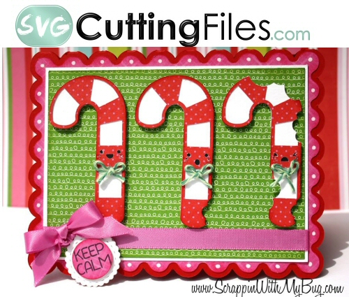 Kawaii Candy Canes Card KIT
