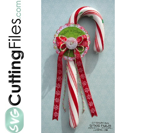 Candy Cane Tie On
