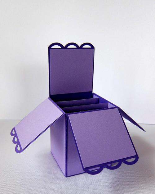 Card Box Open Scallop Edge