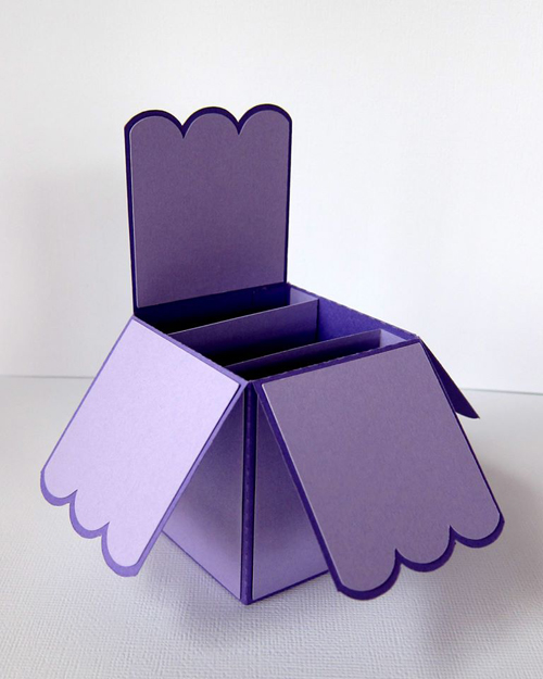 Card Box Scallop Edge