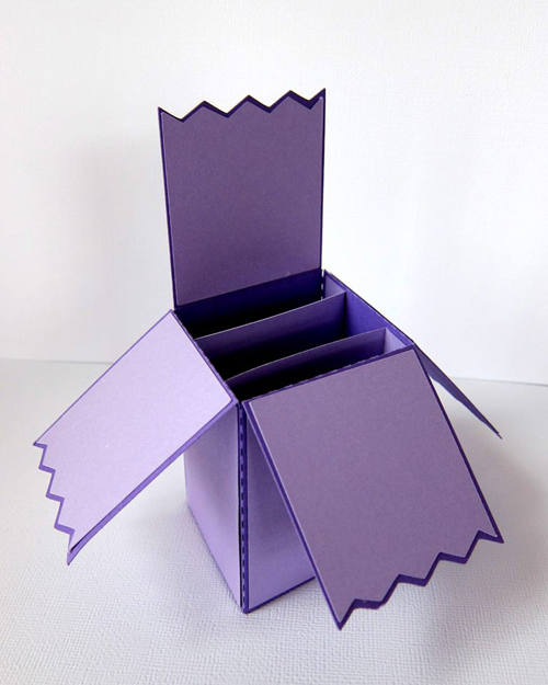 Card Box Zig Zag Edge
