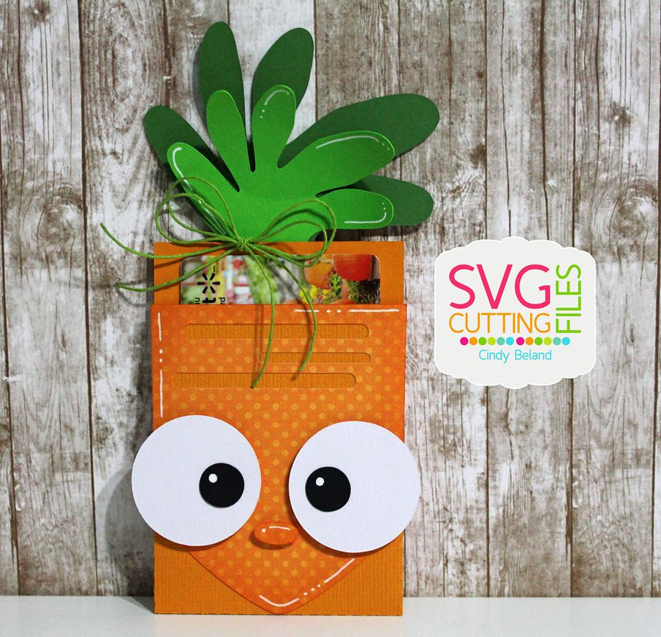 Carrot Gift Card Holder