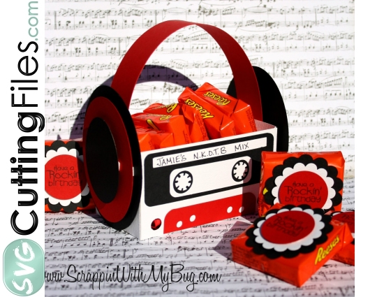 Cassette Tape Treat Box RETRO