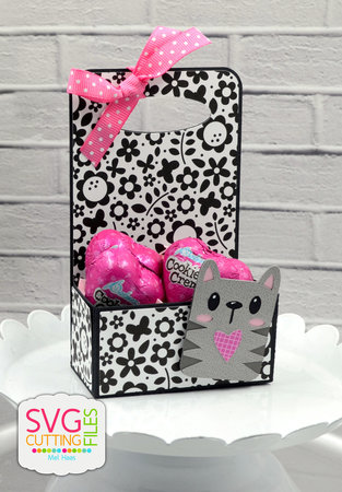 Cat Heart Caddy Box