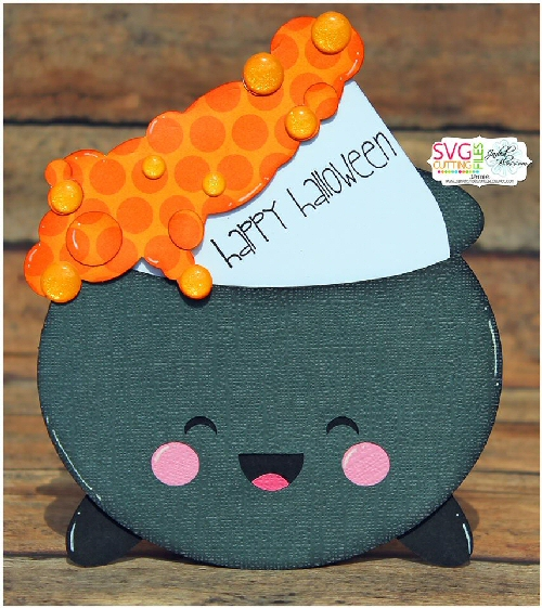 Kawaii Cauldron Slider Card