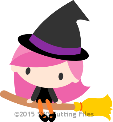 Chibi Witch on Broom