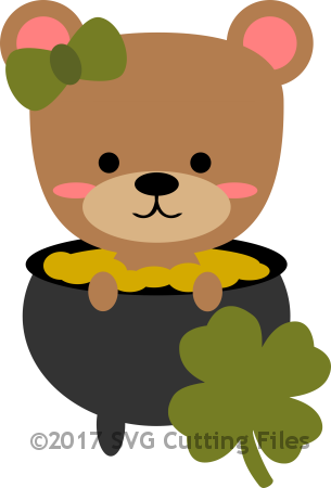 Chibi Bear in Pot of Gold