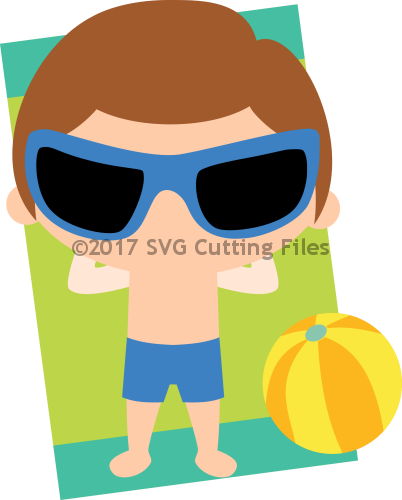 Chibi Boy Beach Towel