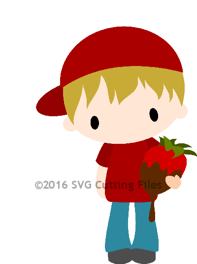 Chibi Boy with Strawberry