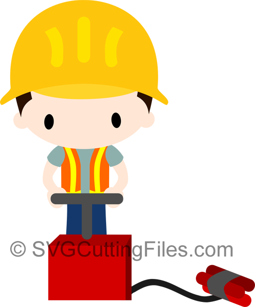 Chibi Construction Worker TNT