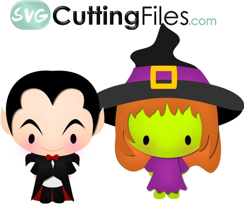 Chibi Witch and Dracula