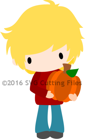 Chibi Fall Boy with Pumpkin