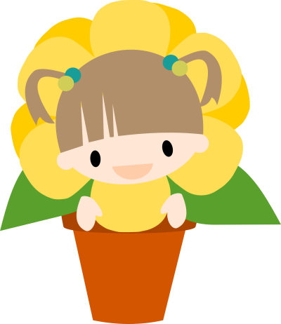 Chibi Potted Flower Girl